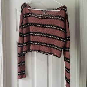 Rubbish Cropped Knit Long Sleeve
